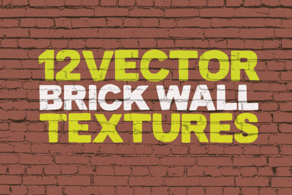 Vector Brick Wall Textures X12 Graphic Textures By SmartDesigns