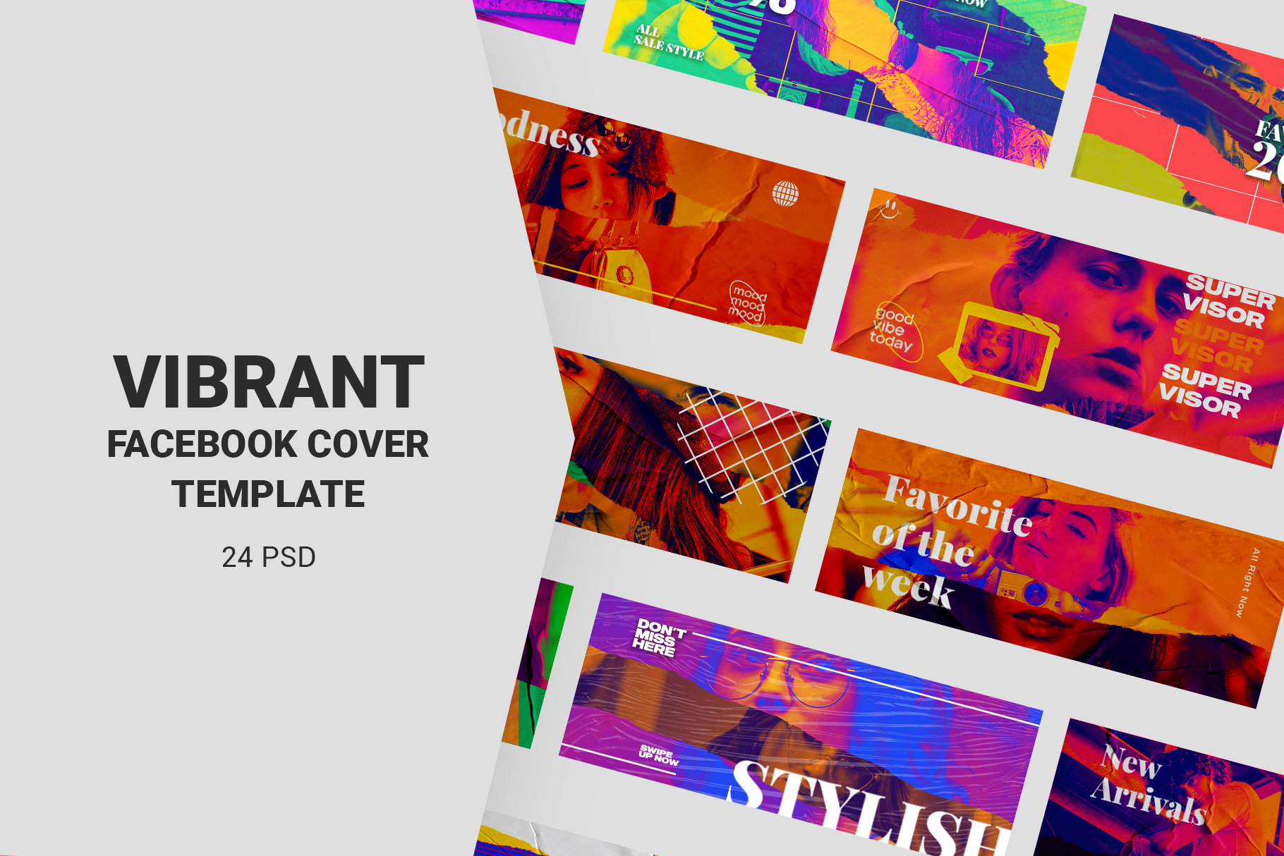 Download Free Vibrant Facebook Cover Templates Graphic By Qohhaarqhaz for Cricut Explore, Silhouette and other cutting machines.