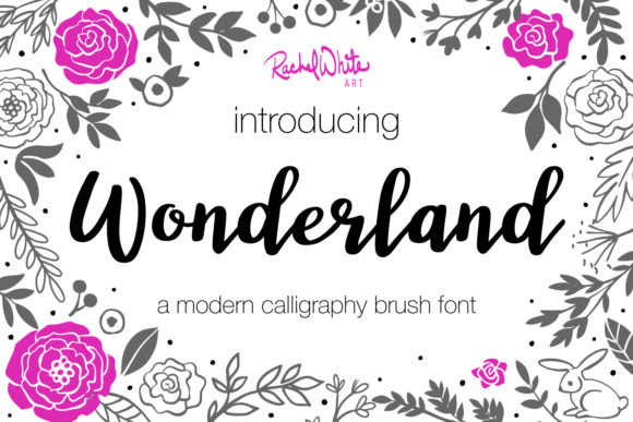 Print on Demand: Wonderland Script & Handwritten Font By rachelwhiteart