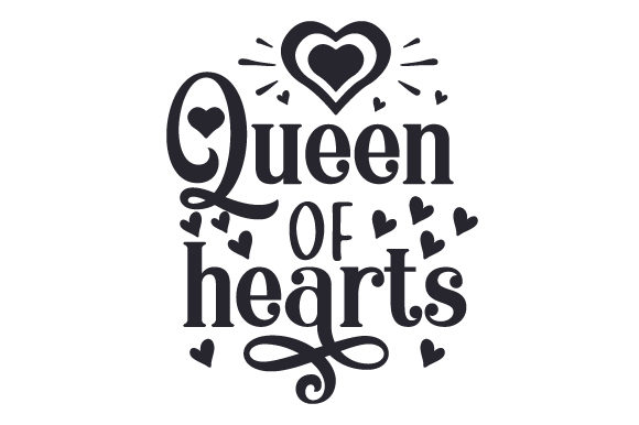 Download Free Queen Of Hearts Svg Cut File By Creative Fabrica Crafts for Cricut Explore, Silhouette and other cutting machines.