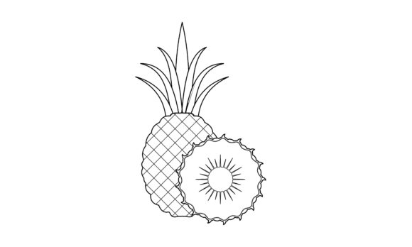 Coloring Book Fruit to Educate Kids Graphic Coloring Pages & Books Kids By DEEMKA STUDIO