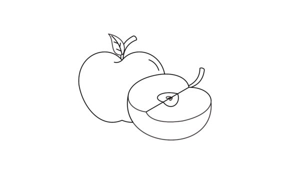Coloring Book Apple to Educate Kids Logo Graphic Coloring Pages & Books Kids By DEEMKA STUDIO