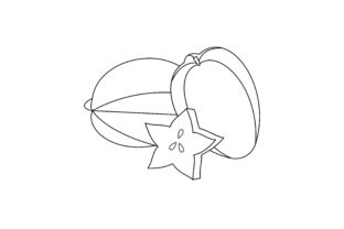 Print on Demand: Coloring Book Fruit to Educate Kids Logo Graphic Coloring Pages & Books Kids By DEEMKA STUDIO