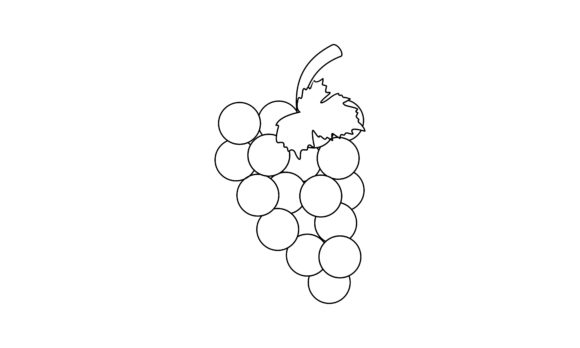 Coloring Book Grape to Educate Kids Logo Graphic Coloring Pages & Books Kids By DEEMKA STUDIO