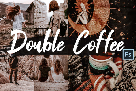 Print on Demand: 05 Double Coffee Photoshop Actions Graphic Actions & Presets By 3Motional
