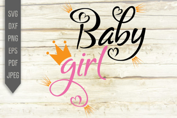 Print on Demand: Baby Girl Svg Princess Crown Designs Graphic Crafts By SVGlaboratory