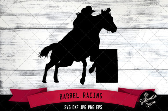 Download Free Barrel Racing Rodeo Cowboy Svg Gymkhan Graphic By for Cricut Explore, Silhouette and other cutting machines.
