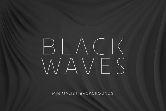 Print on Demand: Black Minimalist Wave Backgrounds 2 Graphic Backgrounds By ArtistMef