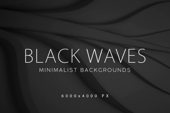 Print on Demand: Black Minimalist Wave Backgrounds Graphic Backgrounds By ArtistMef