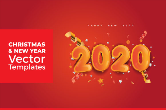 Print on Demand: Christmas and New Year Vector Graphic Graphic Templates By dendysign
