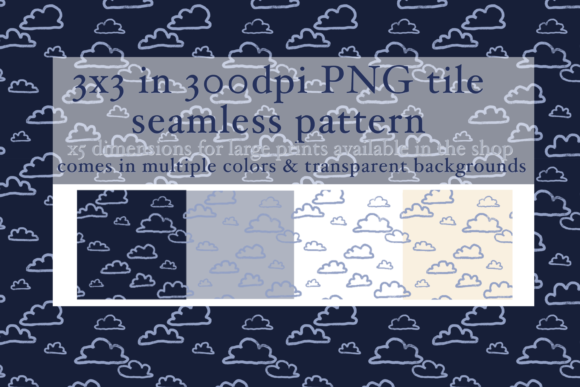 Print on Demand: Cloud Doodle Seamless Pattern Graphic Patterns By Tubiganart