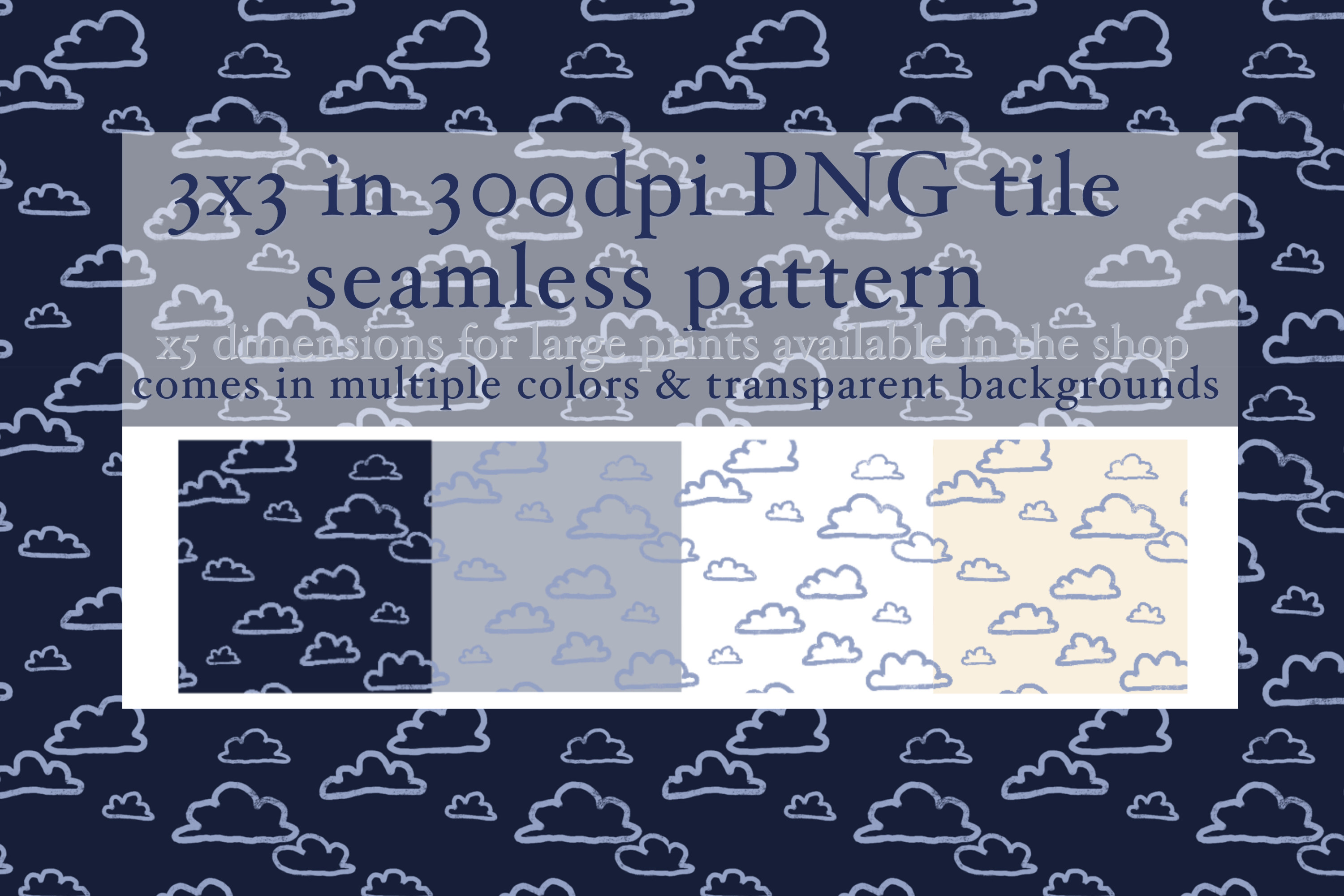 Download Free Cloud Doodle Seamless Pattern Graphic By Tubiganart Creative for Cricut Explore, Silhouette and other cutting machines.