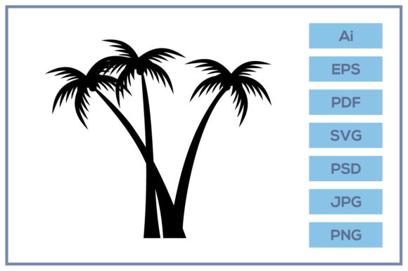 Download Free Coconut Trees Silhouette Design Graphic By Leamsign Creative for Cricut Explore, Silhouette and other cutting machines.