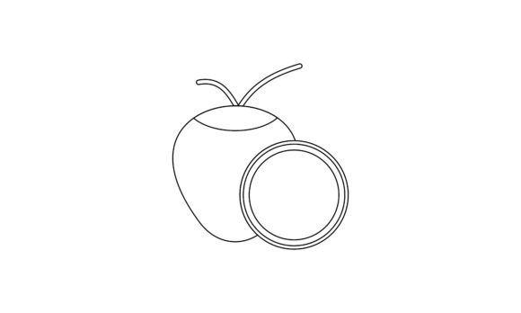 Coloring Book Fruit to Educate Kids Logo Graphic Coloring Pages & Books Kids By DEEMKA STUDIO