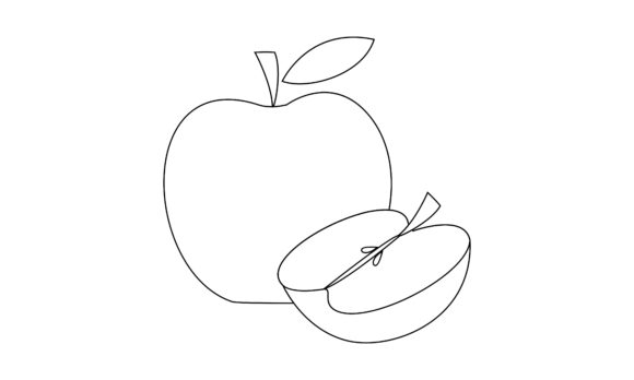 Coloring Book Fruit to Educate Kids Logo Graphic Logos By 2qnah