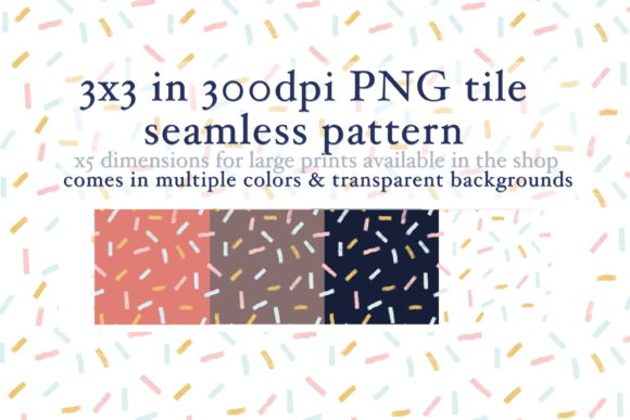 Print on Demand: Confetti Sprinkles Seamless Pattern Graphic Patterns By Tubiganart
