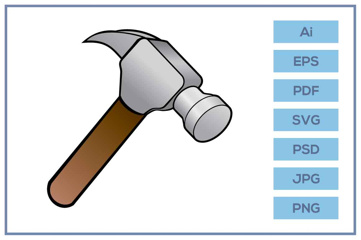 Download Free Construction Hammer Design Graphic By Leamsign Creative Fabrica for Cricut Explore, Silhouette and other cutting machines.
