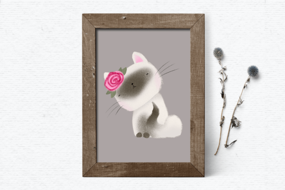 Print on Demand: Cute Cat Clipart Graphic Illustrations By Wallifyer - Image 4