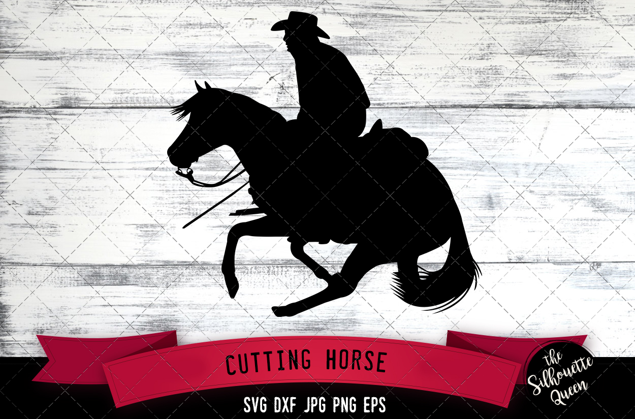 Download Free Cutting Horse Western Style Svg Cowboy Graphic By for Cricut Explore, Silhouette and other cutting machines.