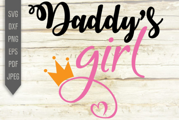 Print on Demand: Daddy's Girl Svg. Little Baby Girl Shirt Graphic Crafts By SVGlaboratory