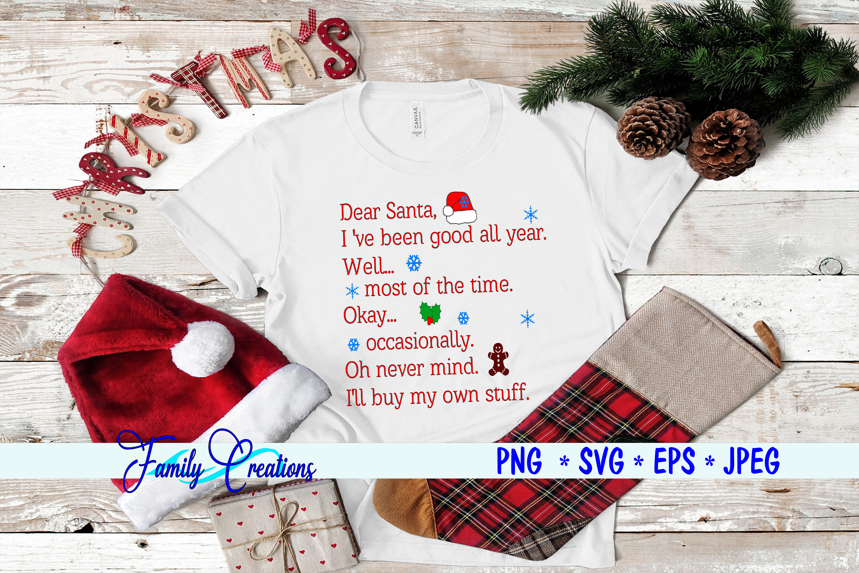 Download Free Dear Santa Graphic By Family Creations Creative Fabrica for Cricut Explore, Silhouette and other cutting machines.