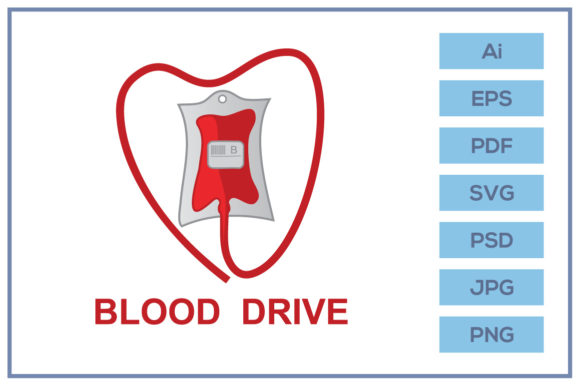 Donate Blood Drive Logo Design Graphic By Leamsign Creative