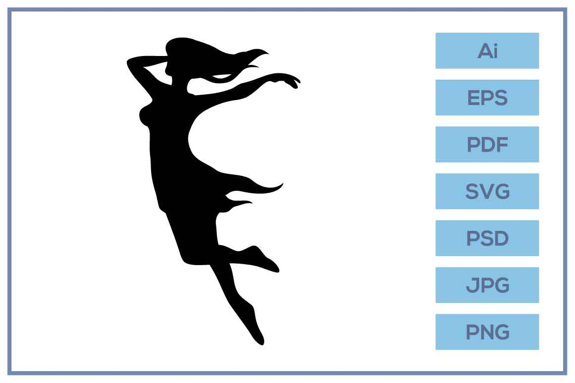 Download Free Fairy Dancing Ballet Silhouette Design Graphic By Leamsign for Cricut Explore, Silhouette and other cutting machines.