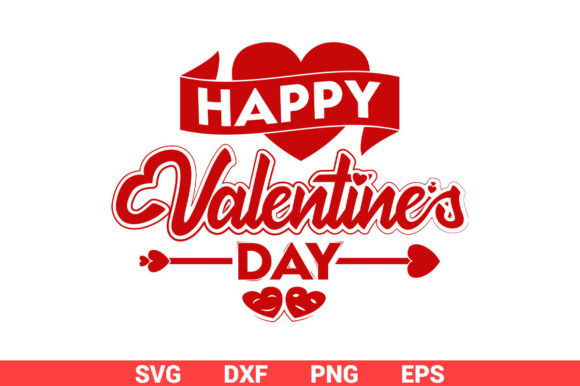 Download Free Happy Valentines Day Typography Design Graphic By Graphicza for Cricut Explore, Silhouette and other cutting machines.