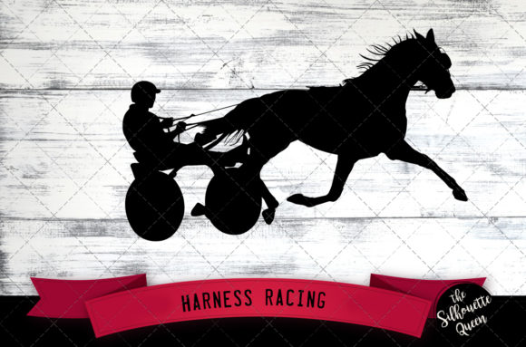 Download Free Harness Racing Equestrian Svg Graphic By Thesilhouettequeenshop for Cricut Explore, Silhouette and other cutting machines.