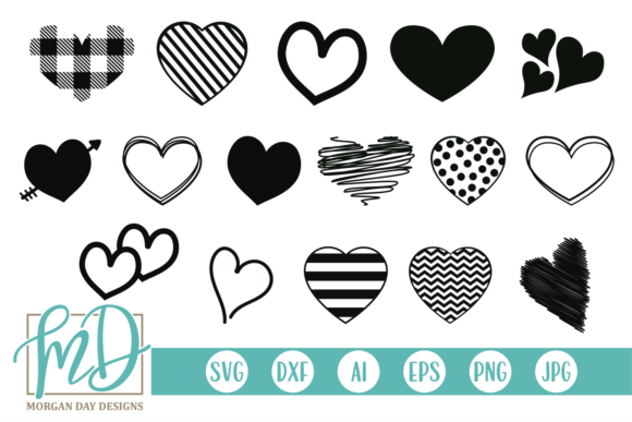 Print on Demand: Heart Doodles Graphic Crafts By Morgan Day Designs