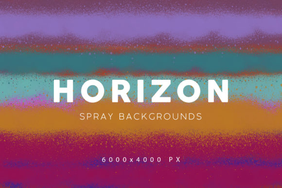 Print on Demand: Horizon Spray Paint Backgrounds Graphic Backgrounds By ArtistMef