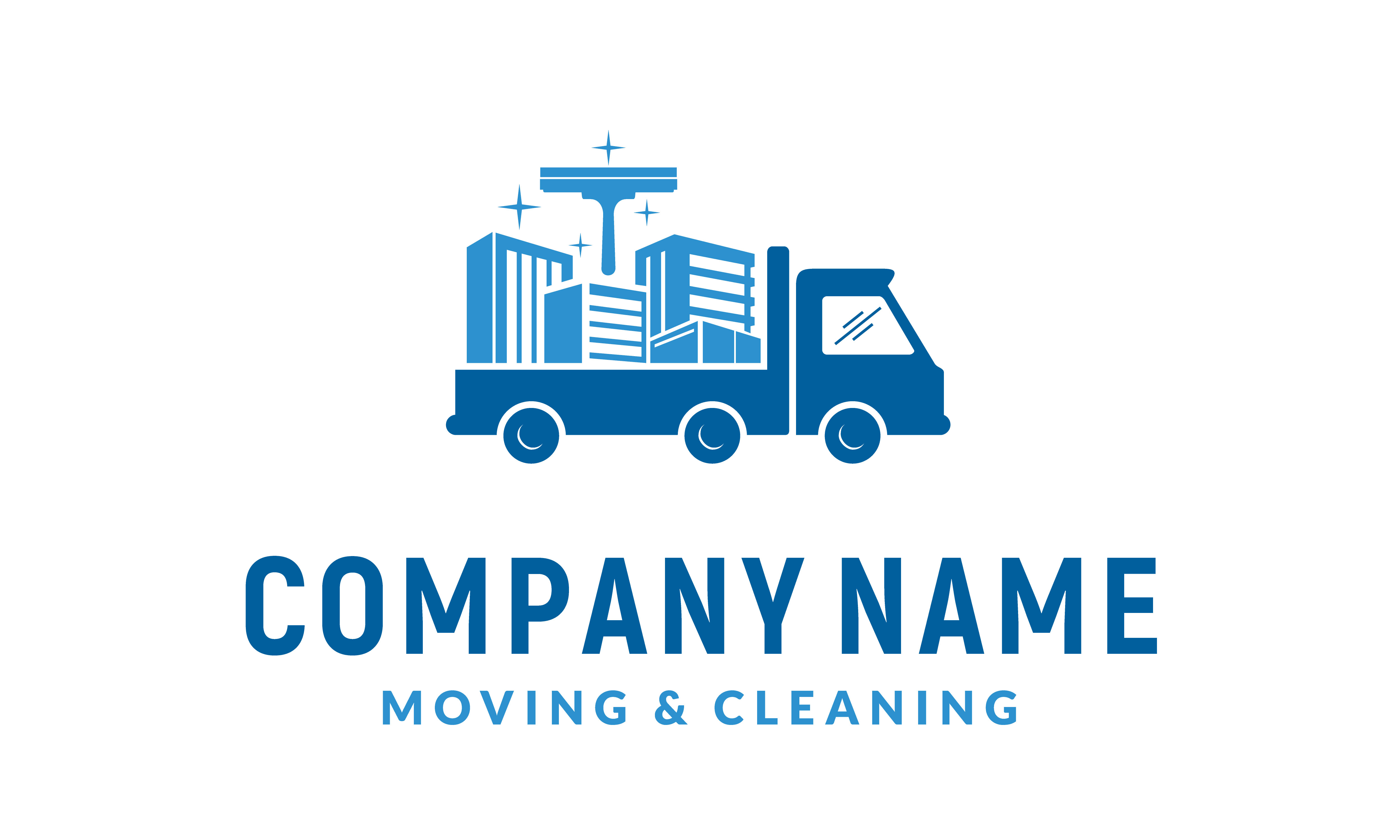 Download Free House Cleaning Service Truck Moving Logo Graphic By Enola99d SVG Cut Files