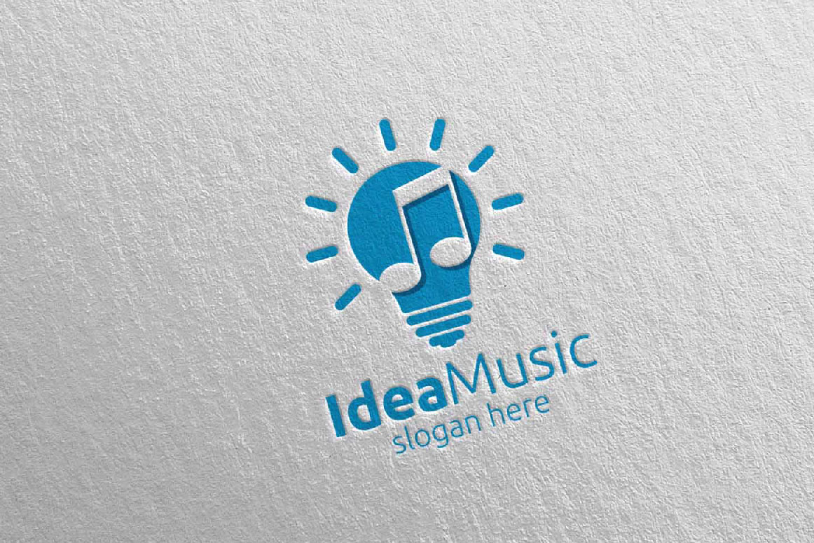 Download Free Idea Music Logo With Note Concept 42 Graphic By Denayunecf for Cricut Explore, Silhouette and other cutting machines.