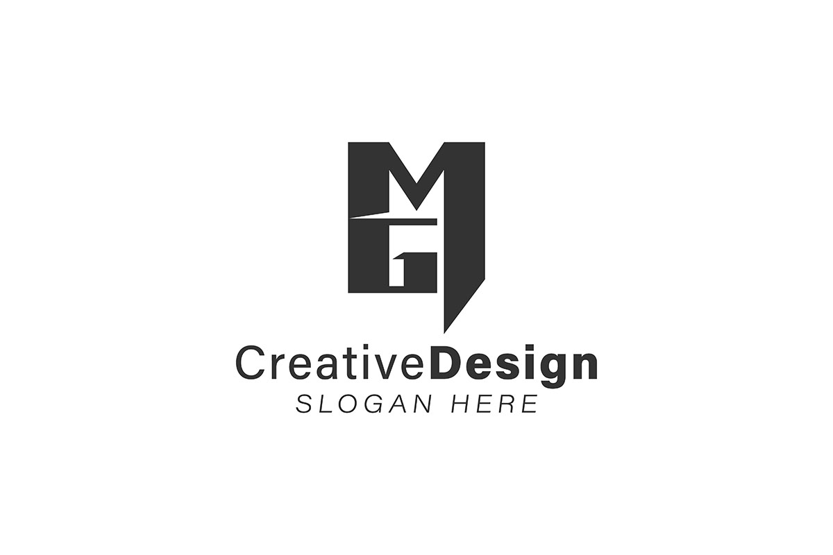 Download Free Initial Letter M G Modern Logo Ideas In Graphic By for Cricut Explore, Silhouette and other cutting machines.