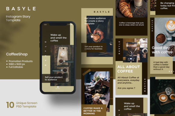 Instagram Story - Basyle Graphic Graphic Templates By fadilahridwan69