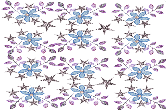 Print on Demand: Lavender & Blue Patterns Graphic Patterns By arts4busykids