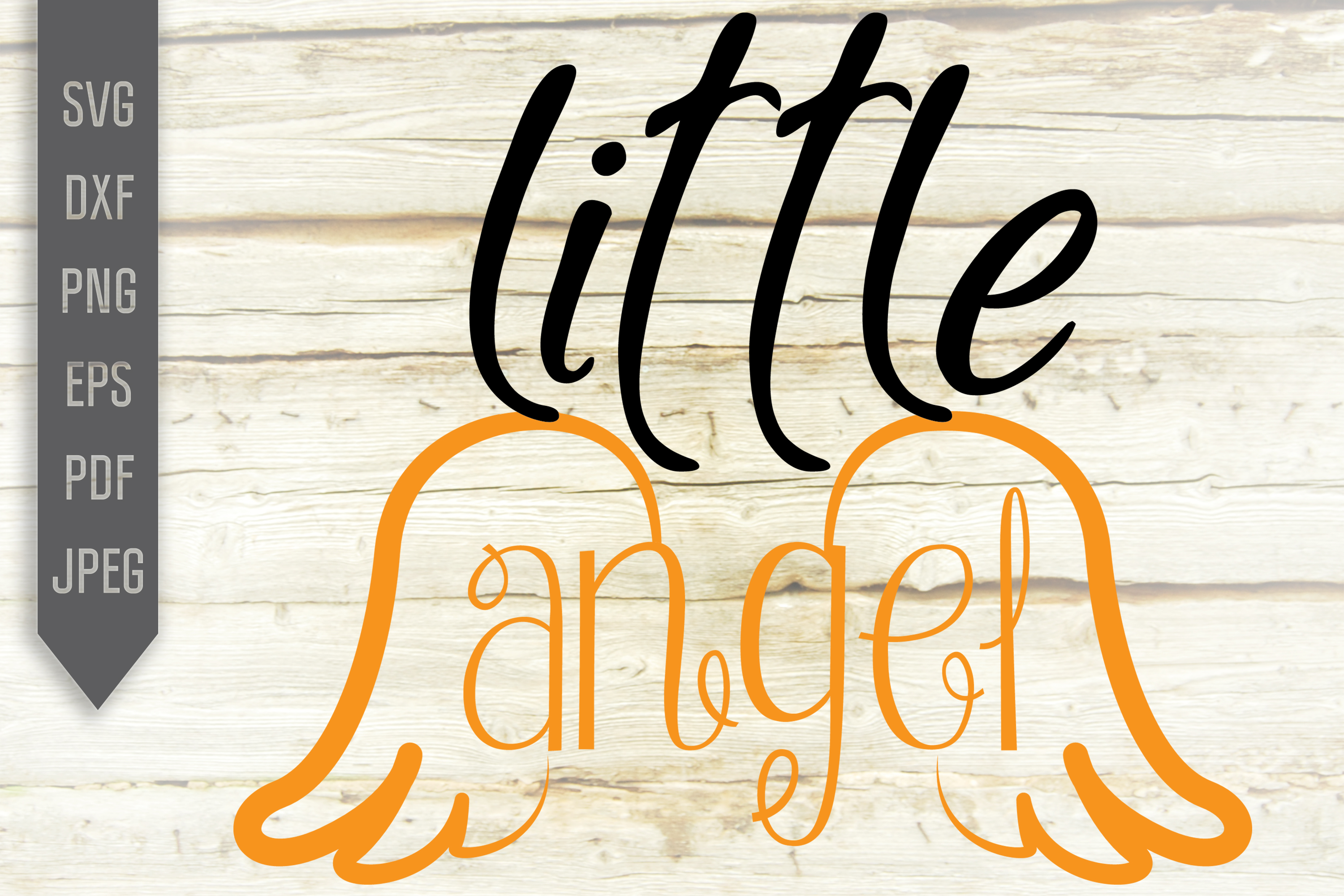 Little Angel Svg Baby Girl Design Wings Graphic By