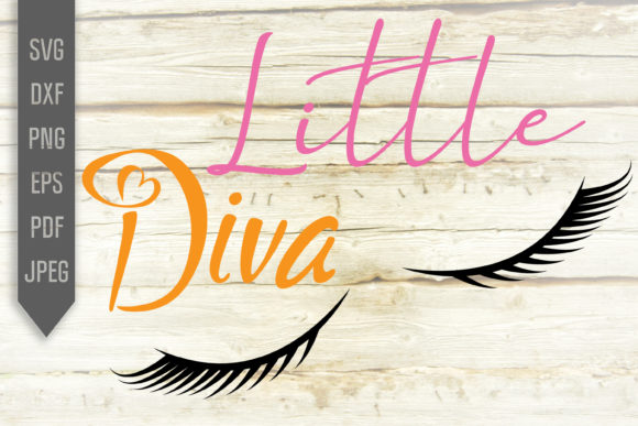 Little Diva Baby Girl Shirt Design Graphic By Svglaboratory