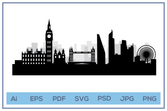 Print on Demand: London City Skyline Landscape Design Graphic Icons By leamsign