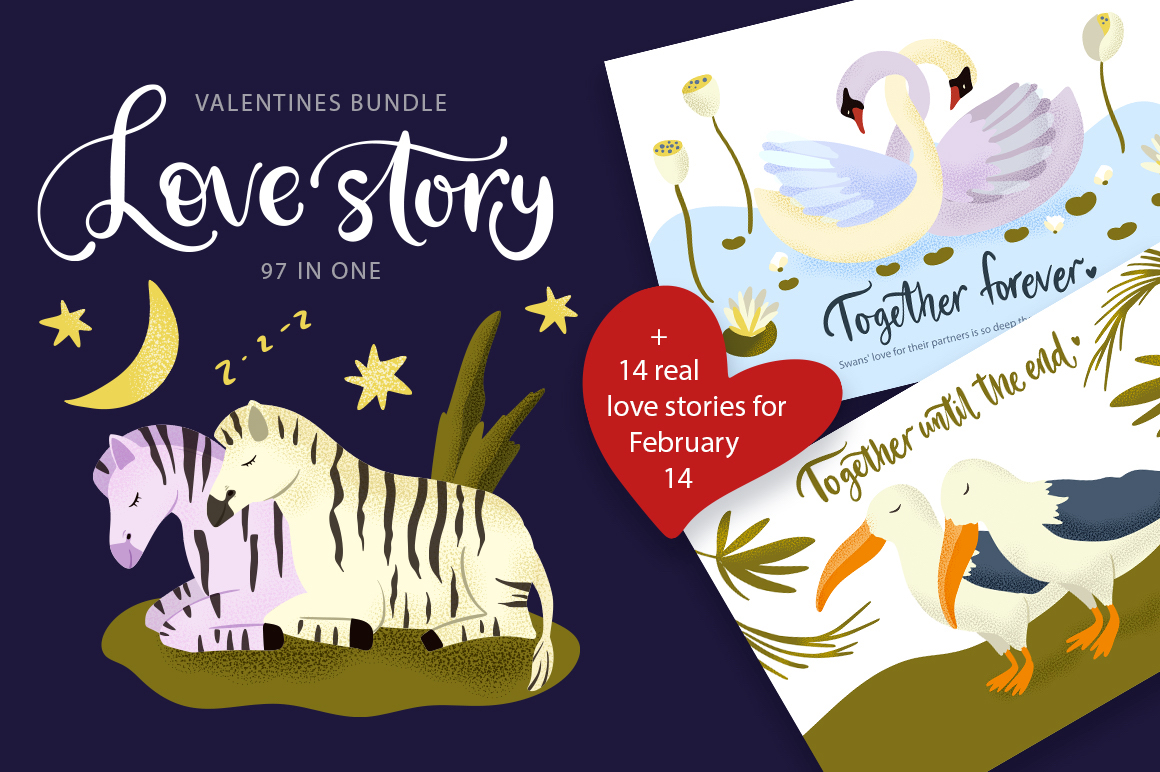 Download Free Love Story Valentine S Day Bundle Graphic By Billcreativestore SVG Cut Files