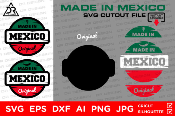 Download Free Made In Mexico Svg Cutout File Graphic By Davidrockdesign for Cricut Explore, Silhouette and other cutting machines.