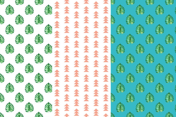 Download Free Monstera Digital Papers Monstera Pattern Graphic By Bonadesigns for Cricut Explore, Silhouette and other cutting machines.