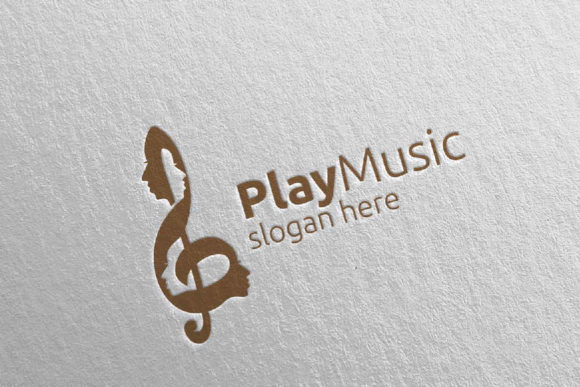 Download Free Music Logo With Note And Face Concept 52 Graphic By Denayunecf for Cricut Explore, Silhouette and other cutting machines.