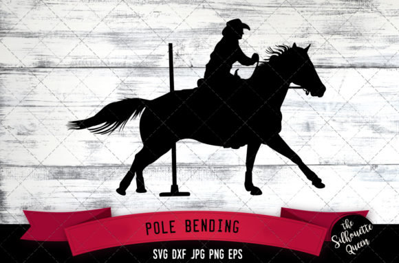 Pole Bending Rodeo Cowboy Svg Gymkhana Graphic By