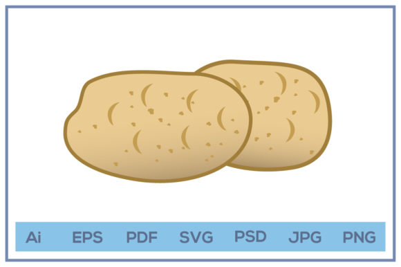 Print on Demand: Potatoes Illustration Design Graphic Icons By leamsign
