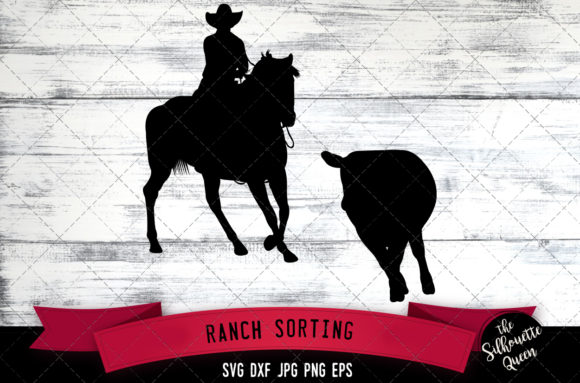 Download Free Ranch Sorting Western Style Svg Cowboy Graphic By for Cricut Explore, Silhouette and other cutting machines.