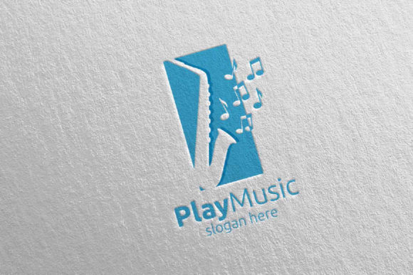 Saxophone Music Logo Design With Square Graphic By Denayunecf