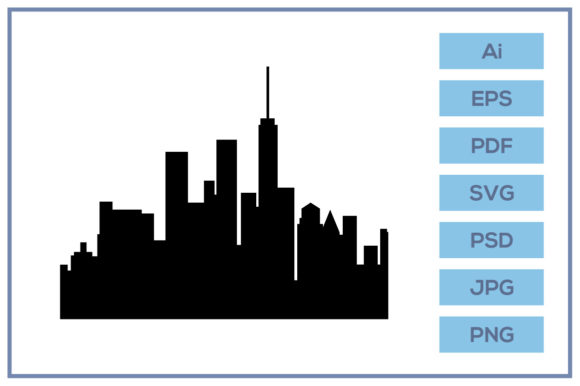 Download Free Silhouette Of Building City Skyline Graphic By Leamsign for Cricut Explore, Silhouette and other cutting machines.