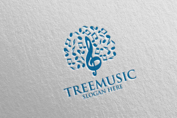 Tree Music Logo with Note and Tree 51 Graphic Logos By denayunecf - Image 2