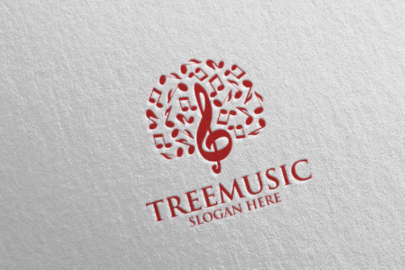 Tree Music Logo with Note and Tree 51 Graphic Logos By denayunecf - Image 3